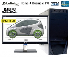 Desktop Gladiator PI8000C-CAD - Complete Professional Design & Drafting Desktop PC Image