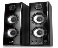 Genius HF1800A 50-watt Three-way Hi-Fi Wood Speakers