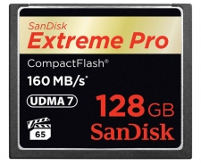 SanDisk Extreme Pro Compact Flash Card 128GB Up to 160MB/s SDCFXPS-128G