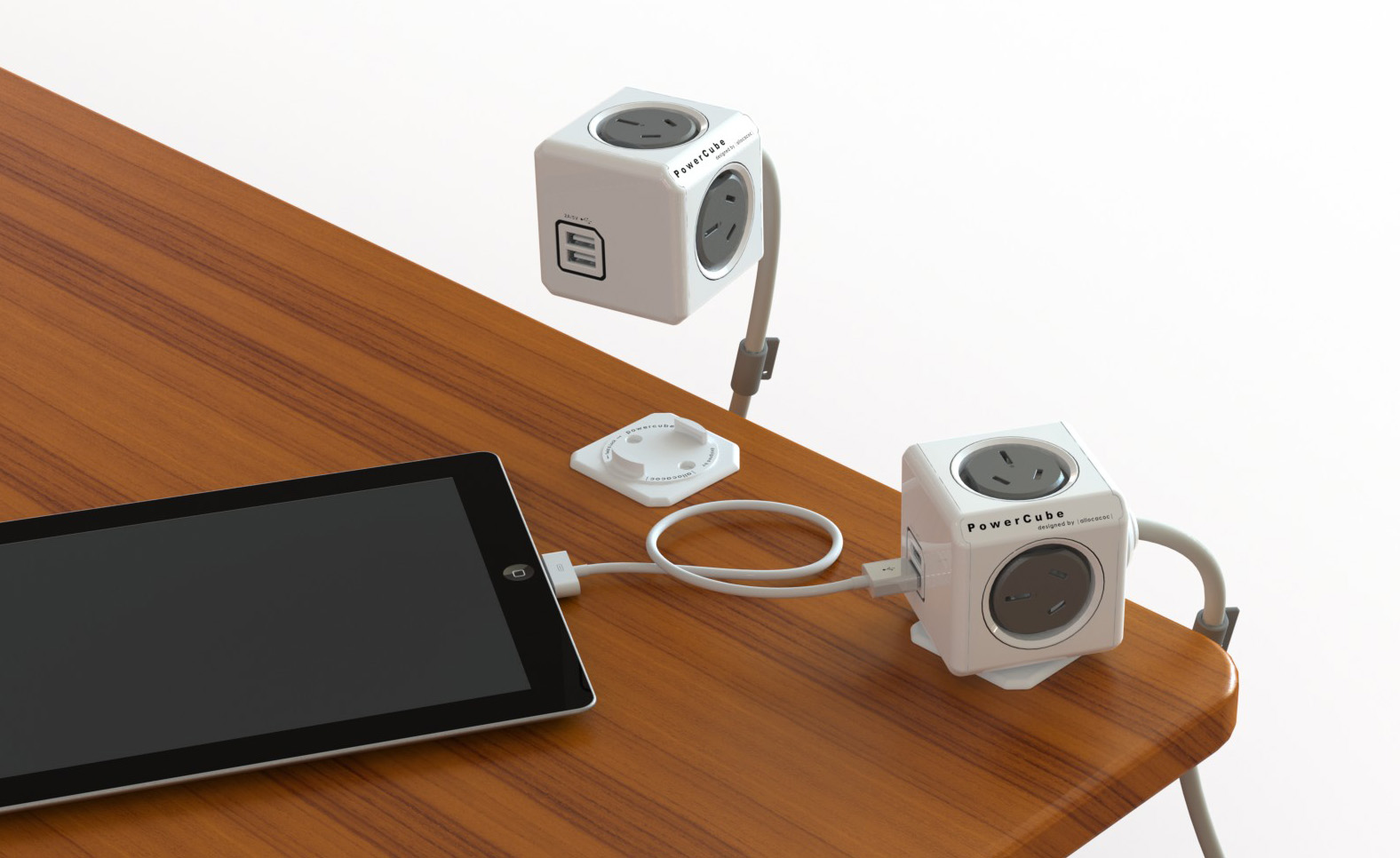 Allocacoc Powercube Extended Usb 4 Power Outlets 2 Usb