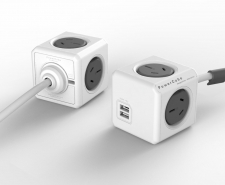Allocacoc PowerCube Extended USB - 4 Power Outlets + 2 USB ports Image