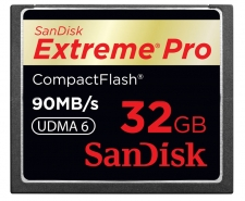 SanDisk Extreme Pro Compact Flash Memory Card UDMA 32GB Up to 90MB/s Image