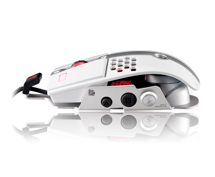 15f2e011c98 Thermaltake eSports Level 10 M Gaming Mouse (Iron White)