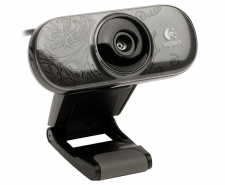 Logitech C210 Webcam with Built-In Mic