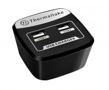 Thermaltake Trip Dual USB AC Charger AC0020 -2.1A output, Compatible with iPad Image