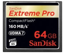 SanDisk Extreme Pro Compact Flash Card 64GB Up to 160MB/s SDCFXPS-064G Image