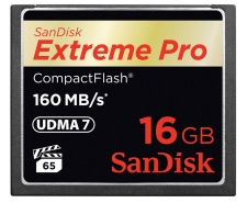 SanDisk Extreme Pro Compact Flash Card 16GB Up to 160MB/s SDCFXPS-016G Image