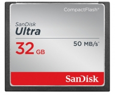 SanDisk Ultra Compact Flash Card 32GB Up to 50MB/s SDCFHS-032