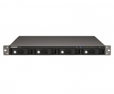 QNAP TS-421U 4-Bay iSCSI Hot-Swappable Marvell 2.0GHz CPU 1GB RAM NAS Image