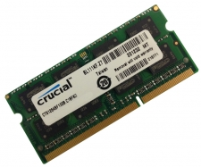 Crucial 2GB DDR3 1333MHz PC3-10600 CL9 204-Pin SODIMM Memory Module