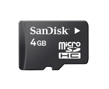 SanDisk 4GB Micro SDHC Memory Card