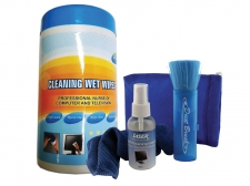 Laser LCD Screen Cleaning Kit + Cleaning Wet Wipes (88 Pack) Cleaning bundle Image