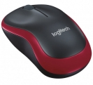 Logitech Wireless Mouse m185 (Red/Black)
