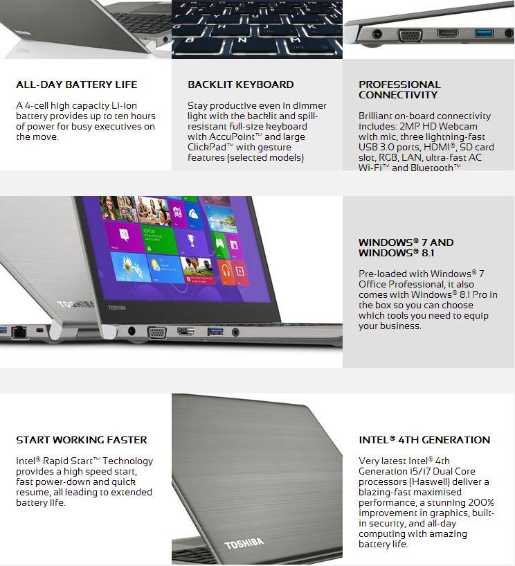 Toshiba Portege Z30 Ultra-Portable Business Ultrabook with 3