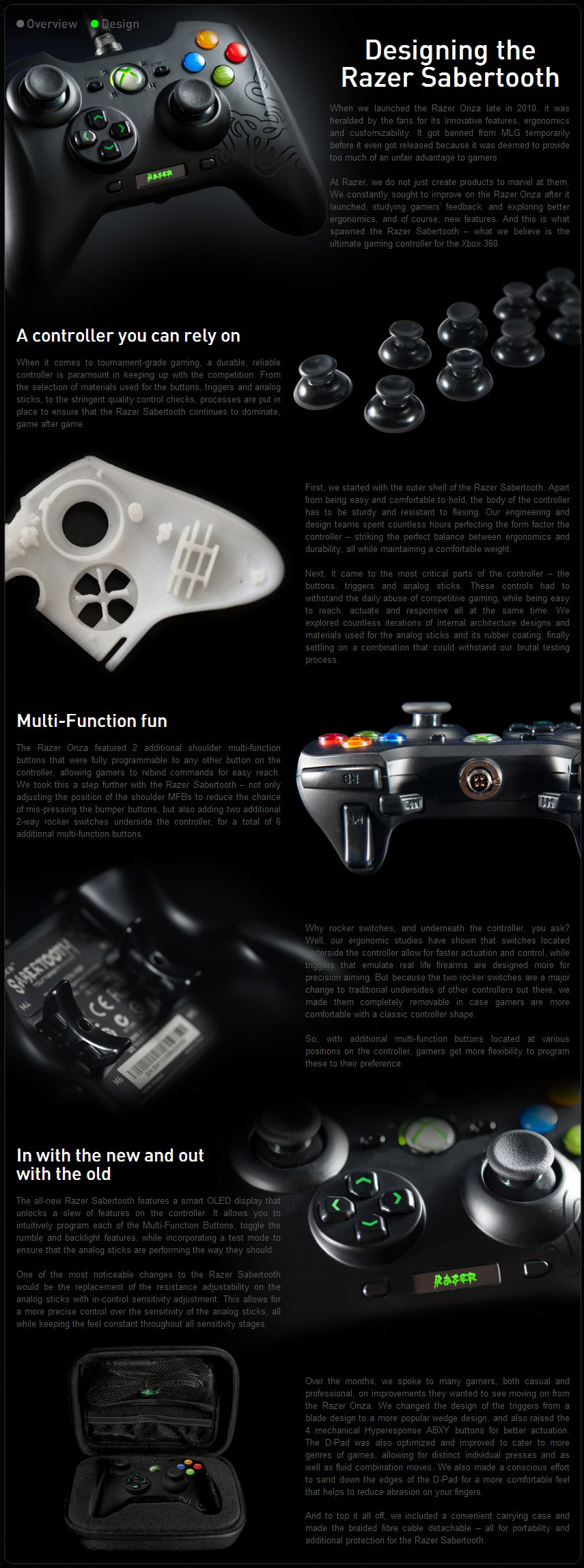 Razer Sabertooth – Gaming Controller for Xbox 360 and PC